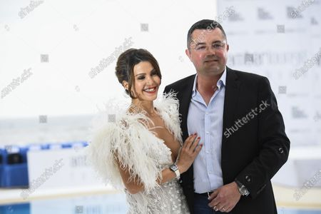Eric Boullier and his wife Tamara Boullier at the Amber Lounge Fashion Parade