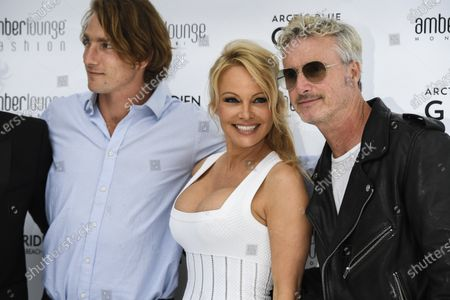 Pamela Anderson, Eddie Irvine and others at the Amber Lounge Fashion Parade