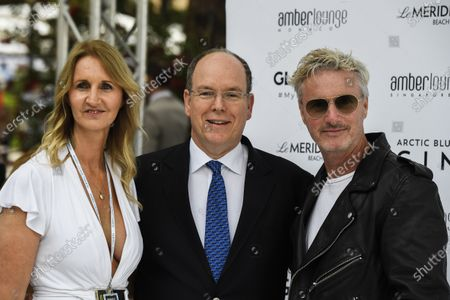Stock Image of Eddie Irvine at the Amber Lounge Fashion Show with Prince Albert II