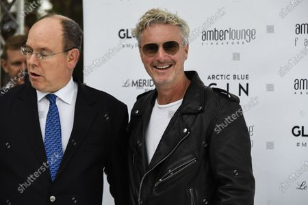 Eddie Irvine at the Amber Lounge Fashion Show with Prince Albert II