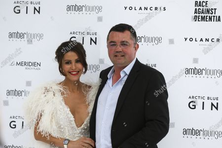 Stock Picture of Tamara and Eric Boullier at the Amber Lounge Fashion Parade