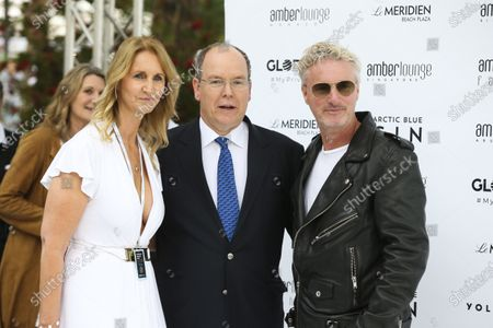 Prince Albert II and Eddie Irvine at the Amber Lounge Fashion Parade