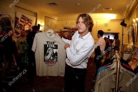 Freddie Hunt with James Hunt clothing