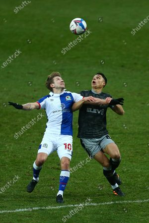 Lewis Holtby of Blackburn Rovers and Wednesday's Joey Pelupess