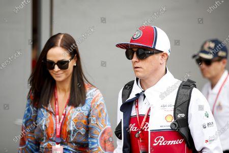 Kimi Raikkonen, Alfa Romeo Racing with his wife Minttu Raikkonen
