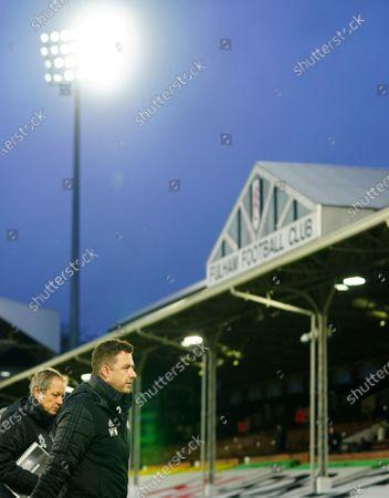Fulham coach Stuart Gray and Fulham Assistant Manager Matt Wells