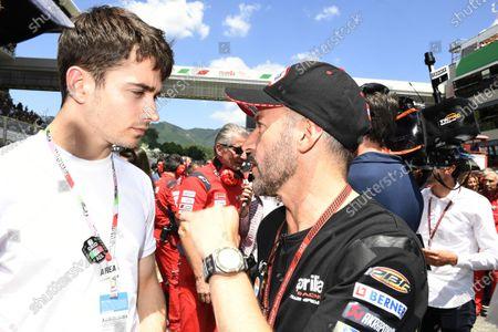 Charles Leclerc, Ferrari with Max Biaggi.
