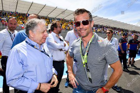 Jean Todt, President, FIA, and Sebastien Loeb on the grid