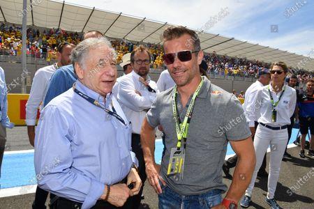 Jean Todt, President, FIA, with Sebastien Loeb on the grid