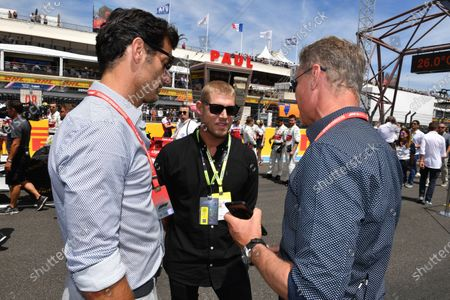 David Coulthard, Mark Webber and Mick Fanning