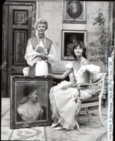 Editorial picture of On The Eve Of The Big Sale The Duchess Of Devonshire And Her Daughter Lady Sophia Pose To Promote Their Latest Book. Deborah Vivien Cavendish Dowager Duchess Of Devonshire Lady Sophia Louise Sydney Topley (nae Cavendish Pkt 1288 -045127 11th Duke Of