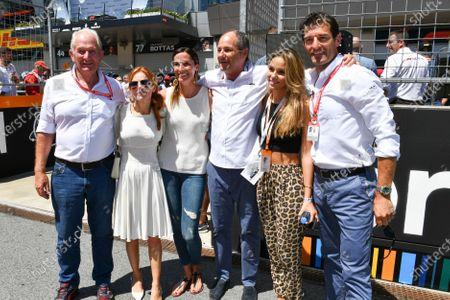 Helmut Markko, Consultant, Red Bull Racing, Gerhard Berger and Mark Webber