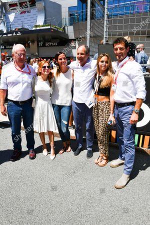 Helmut Markko, Consultant, Red Bull Racing, Geri Horner, Gerhard Berger and Mark Webber