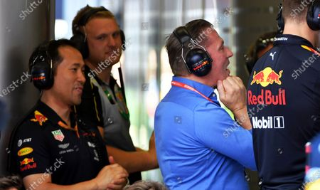 Jos Verstappen watches the race