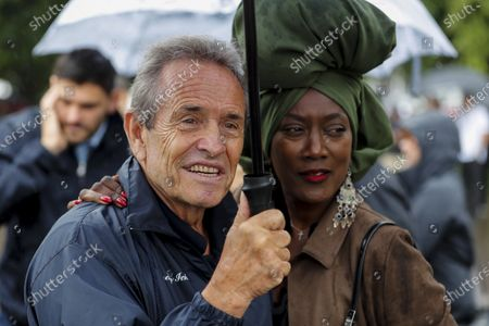 Stock Picture of Jacky Ickx and Khadja Nin in the holding area before the Michael Schumacher Celebration