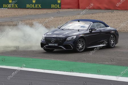 Stock Picture of Lewis Hamilton, Mercedes AMG F1, drives Sir Frank Williams in an AMG S 63