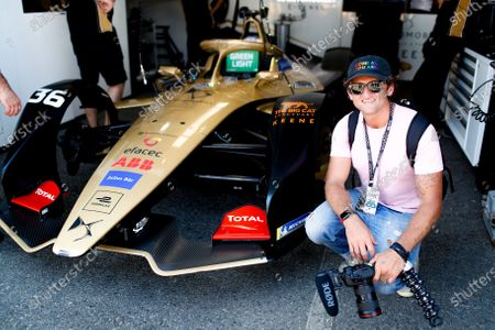 Casey Neistat with Andre Lotterer's (DEU), DS TECHEETAH, DS E-Tense FE19