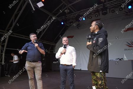 Lewis Hamilton, Mercedes AMG F1, David Croft and Johnny Herbert