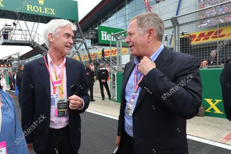 Stock Image of Philip Schofield and Martin Brundle (GBR)