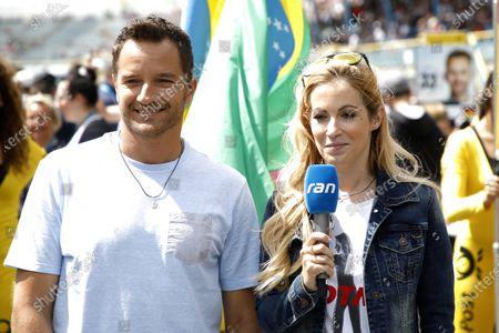 Timo Scheider and Andrea Kaiser, Sat 1 TV.