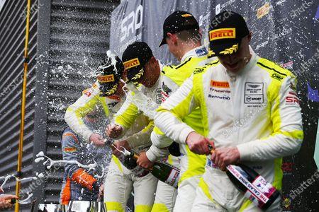 Patrick Kibble / Josh Price TF Sport Aston Martin V8 Vantage GT4 and Tom Canning / Ashley Hand TF Sport Aston Martin V8 Vantage GT4