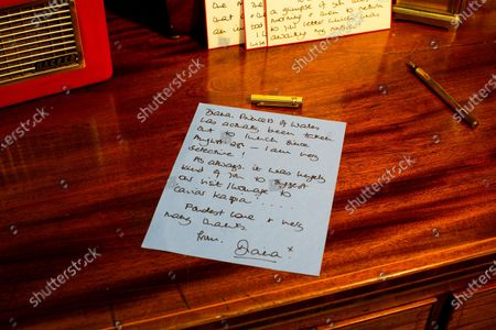 """Stock Picture of The Princess of Wales, signed letter dated October 10th 1996 - Thanking Roger for lunch at Caviar Kaspia and telling him """"It is the first time that Diana, Princess of Wales has actually been taken out to lunch since August 28th - I am very selective!""""  A collection of charming letters written by Princess Diana to a male confidant who helped her through times of personal crisis have been put up for auction.  Diana's 'warm and caring' correspondence with Roger Bramble covered the period of her divorce from Princes Charles and the Andrew Morton's biography which revealed she had attempted suicide."""