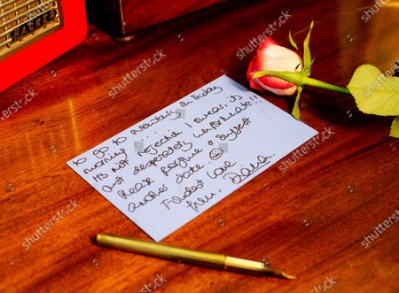 Editorial image of Previously-unseen letters from Princess Diana to a male confidant, UK  - 22 Dec 2020