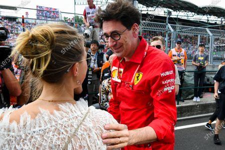 Gina-Maria Schumacher and Mattia Binotto, Team Principal Ferrari celebrating the F2 win of Mick Schumacher (DEU, PREMA RACING)