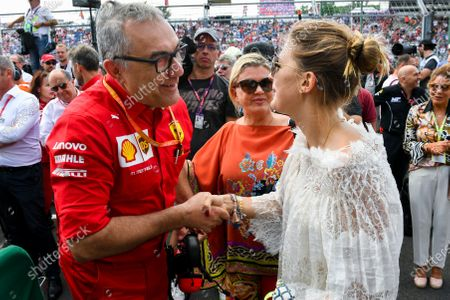 Stock Picture of Corinna Schumacher and Gina-Maria Schumacher celebrating the F2 win of Mick Schumacher (DEU, PREMA RACING)