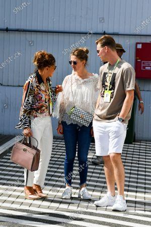 Gina-Maria Schumacher in the paddock with her boyfriend Iain Bethke