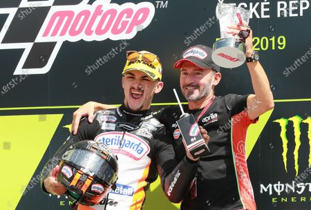 Race winner Aron Canet, Max Racing Team with Max Biaggi