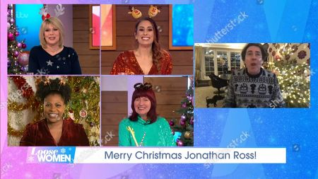 Editorial photo of 'Loose Women' TV Show, Christmas Eve Special, London, UK - 24 Dec 2020
