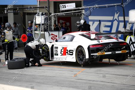 #125 Audi Sport Team Absolute Racing Audi R8 LMS GT3 Evo: Markus Winkelhock, Christopher Haase, Christopher Mies.