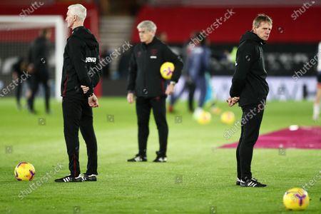 West Ham United Manager coach Stuart Pearce.