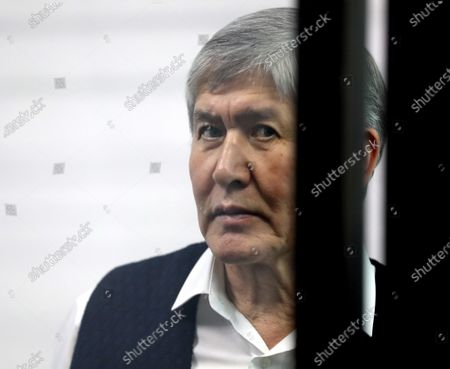 Stock Image of Former Kyrgyzstan president Almazbek Atambayev attends a court hearing on the events in the village of Koy-Tash in Bishkek, Kyrgyzstan, 23 December 2020. Special forces of the State Committee for National Security tried to detain the Atambayev on 07 August 2019 in the village of Koy-Tash in order to bring him for interrogation to the Prosecutor General's Office. Almazbek Atambayev is charged with an article on organizing mass riots, the State Committee for National Security of Kyrgyzstan said.