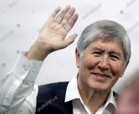 Former Kyrgyzstan president Almazbek Atambayev attends a court hearing on the events in the village of Koy-Tash in Bishkek, Kyrgyzstan, 23 December 2020. Special forces of the State Committee for National Security tried to detain the Atambayev on 07 August 2019 in the village of Koy-Tash in order to bring him for interrogation to the Prosecutor General's Office. Almazbek Atambayev is charged with an article on organizing mass riots, the State Committee for National Security of Kyrgyzstan said.