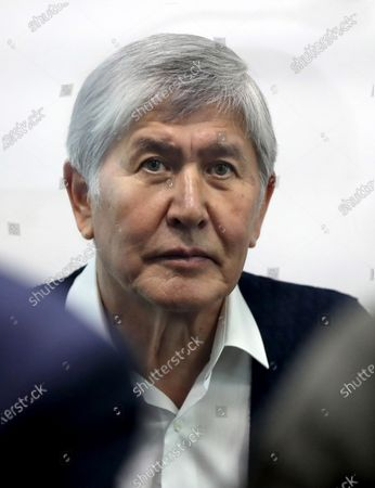 Stock Picture of Former Kyrgyzstan president Almazbek Atambayev attends a court hearing on the events in the village of Koy-Tash in Bishkek, Kyrgyzstan, 23 December 2020. Special forces of the State Committee for National Security tried to detain the Atambayev on 07 August 2019 in the village of Koy-Tash in order to bring him for interrogation to the Prosecutor General's Office. Almazbek Atambayev is charged with an article on organizing mass riots, the State Committee for National Security of Kyrgyzstan said.