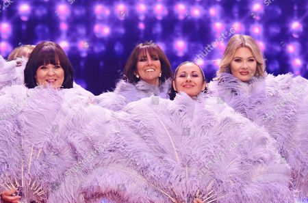 The ladies prepare to bare (l-r) Coleen Nolan,   Linda Lusardi, Hayley Tamaddon and Shaughna Phillips