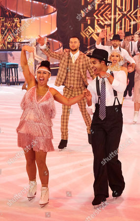 Hayley Tamaddon takes to the ice with her pro skating partner
