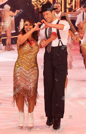 Stock Picture of Linda Lusardi takes to the ice with her pro skating partner