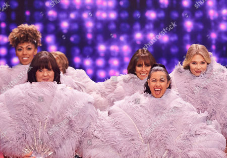 The ladies prepare to bare (l-r) Dr Zoe Williams, Coleen Nolan,   Linda Lusardi, Hayley Tamaddon and Shaughna Phillips