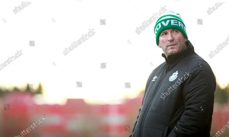 Shamrock Rovers vs Cork City. Shamrock Rovers' manager Sean Kelly