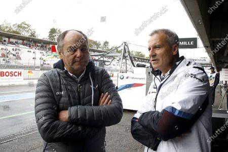 Gerhard Berger, ITR Chairman, Jens Marquardt, BMW Motorsport Director.