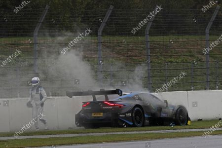 Stock Picture of Daniel Juncadella, R-Motorsport, Aston Martin Vantage AMR stops on track  .