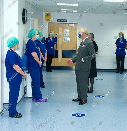 Prince Charles visits Tetbury Hospital