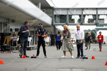 David Croft, Sky TV, Sergio Perez, Racing Point, Rachel Brookes, Sky TV and Johnny Herbert, Sky TV