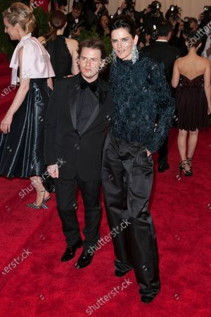 Stock Photo of Stella Tennant and Christopher Kane
