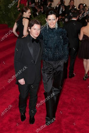 Stella Tennant and Christopher Kane
