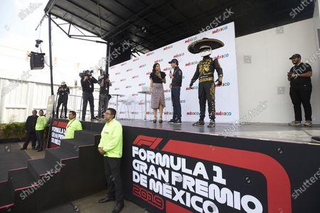 Esteban Gutierrez, Mercedes AMG F1, on stage