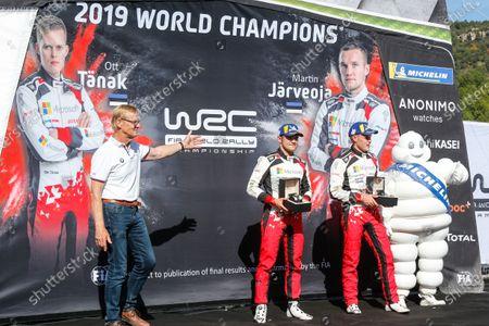 Ott Tänak (EST), Martin Jarveoja, Ari Vatanen (FIN), Toyota Gazoo Racing WRT, Toyota Yaris WRC 2019
